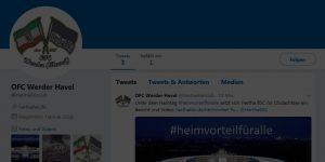 Hertha Fanclub OFC Werder (Havel) bei Twitter