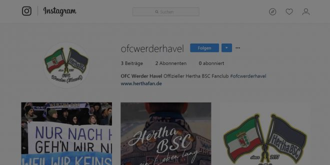 "<span class=""entry-title-primary"">Hertha Fanclub Werder (Havel) bei Instagram</span> <span class=""entry-subtitle"">jetz @ofcwerderhavel und #ofcwerderhavel folgen</span>"